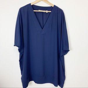 Sejour oversized top blue dolman sleeve size 1X